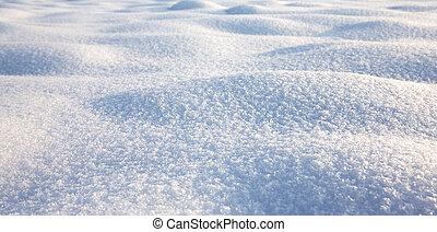 snö, struktur, vinter scen, snö, bakgrund