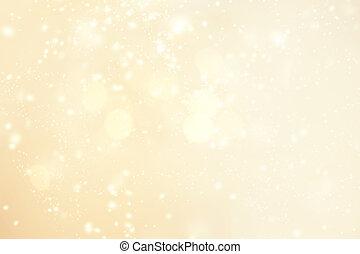 snöflingor, glittrande, bakgrund, stars., abstrakt, lätt, ...