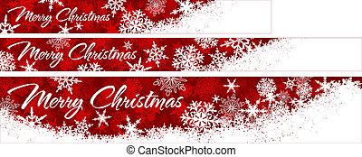 snöflingor, jul, nät, baner