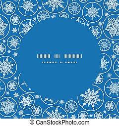 snöflingor, mönster, ram, seamless, vektor, bakgrund, stjärnfall