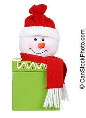 snögubbe, julgåva, ansikte