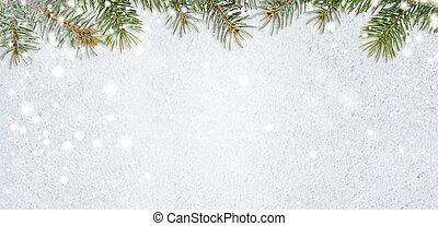 snöig, jul, bakgrund, år, färsk, eller, glittrande