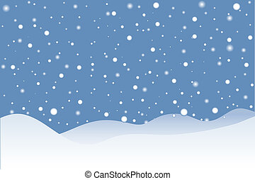 snöig scen