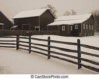 snöig, stallplan