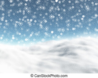 snöig, vinter landskap