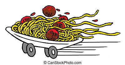 snabbmat, spagetti