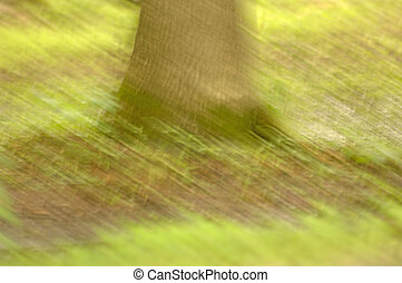 snabel, impressionist, träd