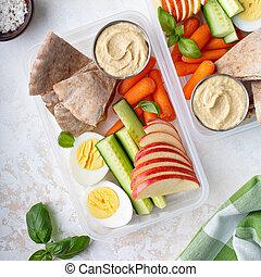 snack, gezonde , nutricious, etentje, dozen, of