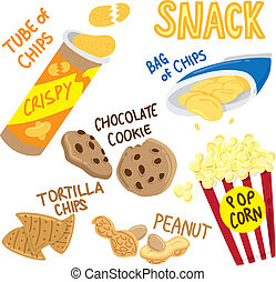 snack icon doodle isolated on white background