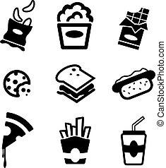 snack, iconen