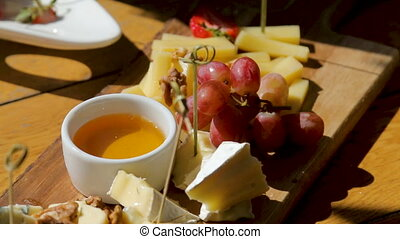 snack lying on the table buffet with cheese