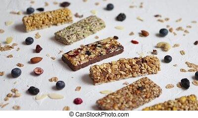 snack., nourriture saine, dessert, cru, composition, diététique, fitness