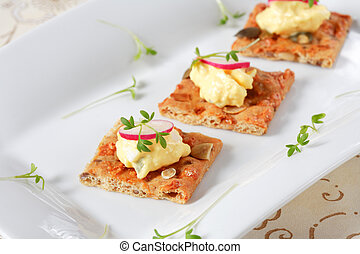 Snack - Delicious small snack as appetizer