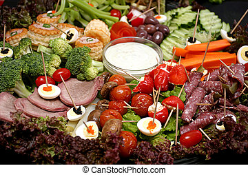 Snack Platter - Snack platter with meat and egg and veg