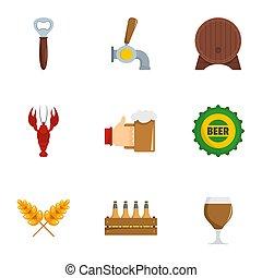 Snackbar icons set, flat style