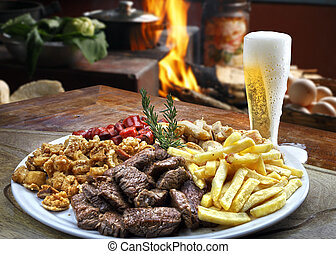 Snacks and beer