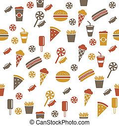 Snacks seamless pattern