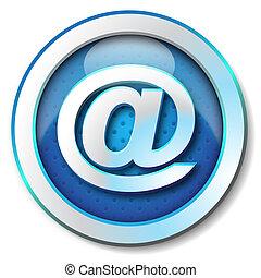 Snail adress web icon - Icon for web blue, Snail adress web...
