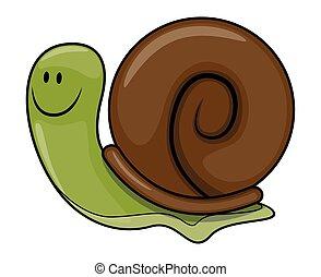 Snail cartoon illustration