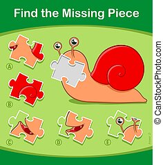 Snail jigsaw puzzle game for children