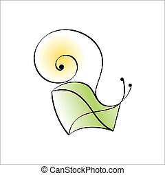Snail mail. Abstract icon