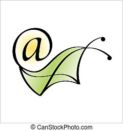 Snail mail. Email icon