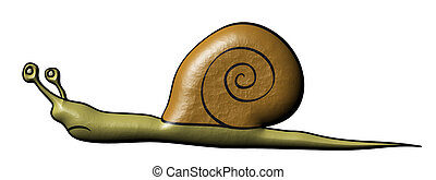 Snail - slowly animal - Comics illustration of the snail -...