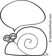 snail with speech bubble