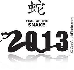 Snake 2013 - Vector Snake sign 2013