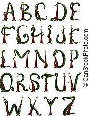 Snake alphabet LETTER - A-Z