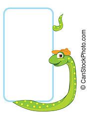 Snake. Baby animal banner