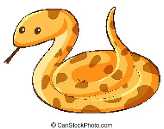Snake cartoon character on white background