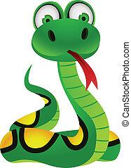 Snake cartoon character - Vector illustration of snake...