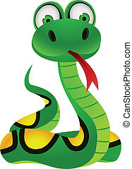 Snake cartoon character - Vector illustration of snake...