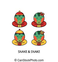Snake Chinese Happy New Year