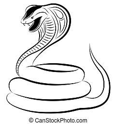 Snake, Cobra - Cobra in the form of a tattoo