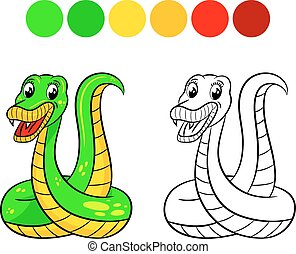 Snake coloring book.