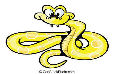 snake cute cartoon
