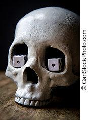 Snake Eyes Dice Skull