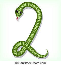 Snake font. Digit 2