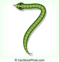 Snake font. Digit 7