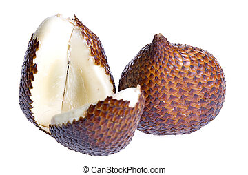 Snake Fruits - Isolated close-up image of Snake Fruits,...