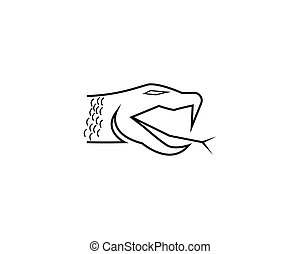 Snake head line vector illustration