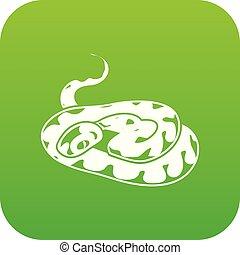 Snake icon green vector