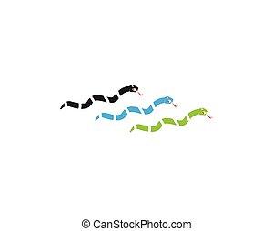 Snake icon logo vector illustration