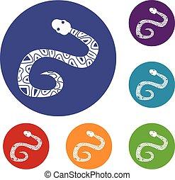 Snake icons set