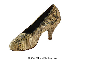 Snake leather female footware - Snake leather footware from ...