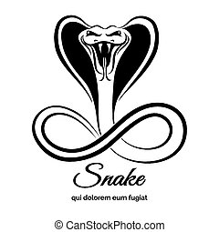 Snake logo. Animal graphic, danger viper or reptile or...