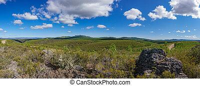Snake mountain in Spain - Panoramic image of snake mountain...