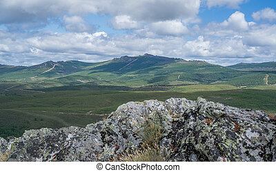 Snake mountain in Spain - Top peak of snake mountain range...